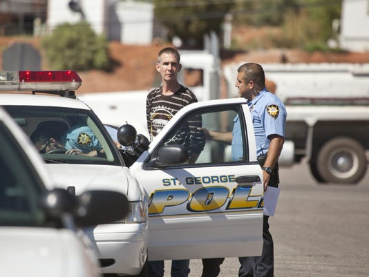 Naked man arrested by St. George Police