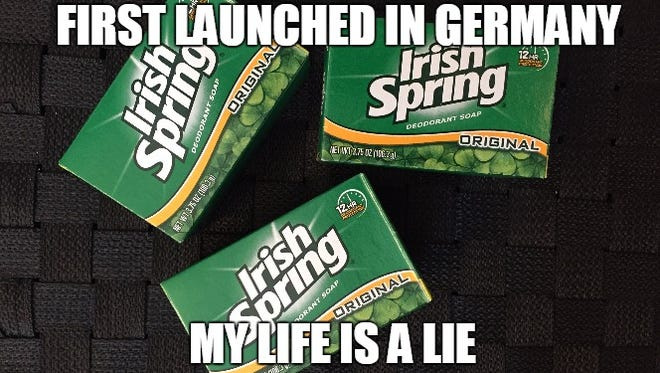 When you realize half the things that you think are Irish aren't really Irish...