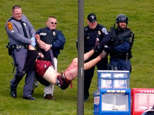 In this April 17, 2007 file photo, Virginia Tech student