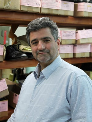 Gino Bifulco, who runs the Time Square-area custom shoe company T.O. Dey, in New York. He and his staff of 14 make the footwear for 80 percent of Broadway musicals.