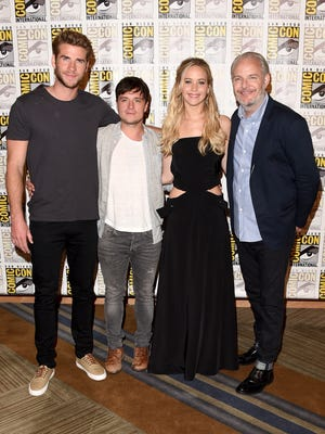 """of """"The Hunger Games: Mockingjay - Part 2"""" attends the Lionsgate press room during Comic-Con International 2015 at the Hilton Bayfront on July 9, 2015 in San Diego, California."""