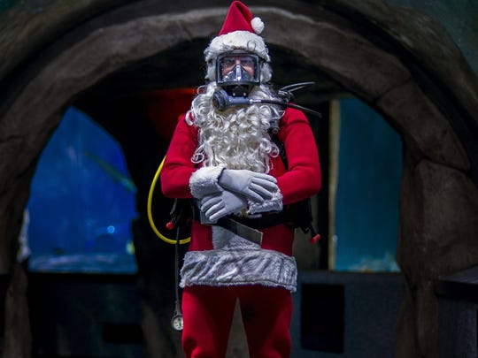 Scuba Santa out of water