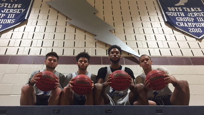 Timber Creek seniors (from left) Dylan Elliott, Ricky Martin, Maurice Murray and Isaiah Sanders won a state title together as eighth graders and are hoping to do the same in their final year of high school.