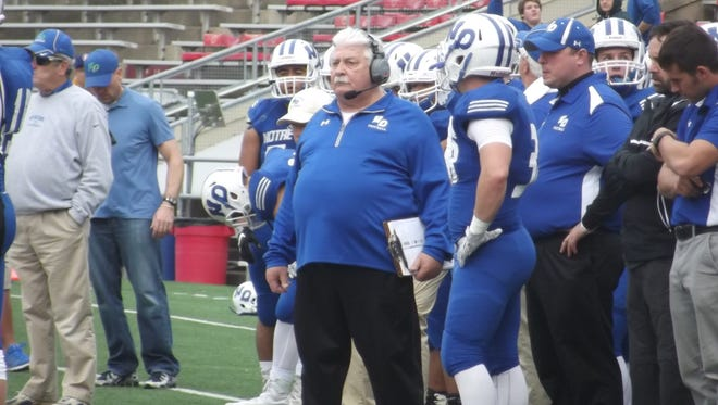 Green Bay Notre Dame's John Nowak coached in his final game Friday at Camp Randall Stadium during the WIAA Division 3 state championship. Nowak has been the team's only head coach during its 27-year existence.