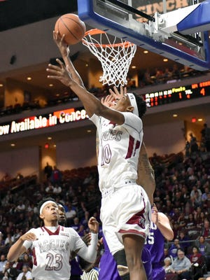 New Mexico State's Jemerrio Jones was named a 2017-18 Western Athletic Conference Joe Kearney award winner on Thursday.