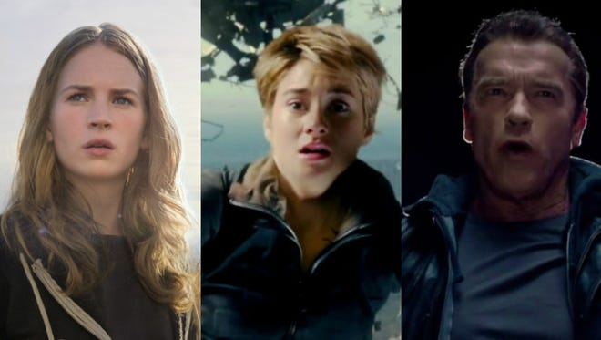 Movie trailers that will play during the Super Bowl.