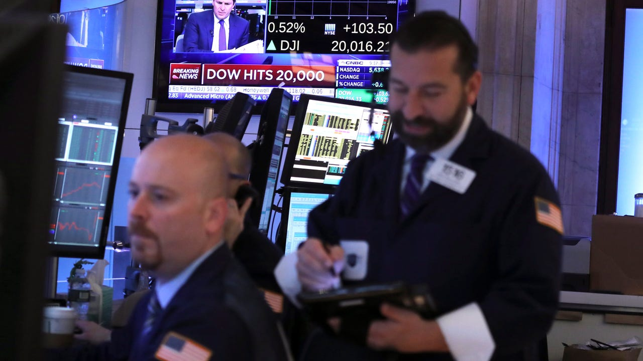 The Dow Jones Industrial Average ended with losses for its eighth session in a row on worries the Trump administration can't enact the growth initiatives promised.  