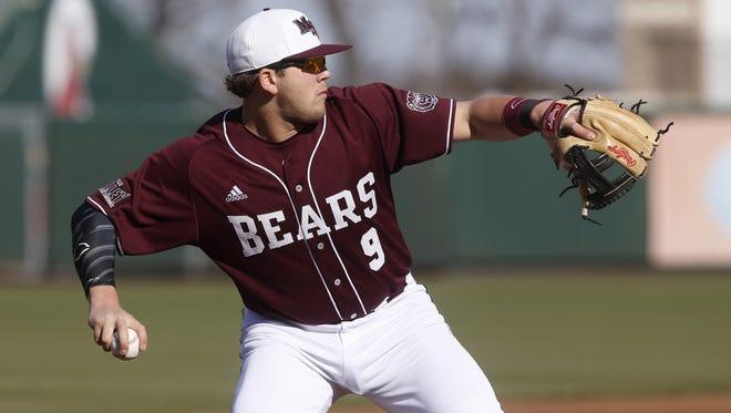 Sophomore third baseman Jake Burger led Missouri State in batting average, on-base percentage and RBI in 2016.