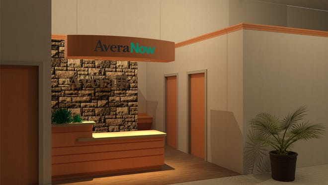 An example of an Avera Now clinic inside a Hy-Vee store.