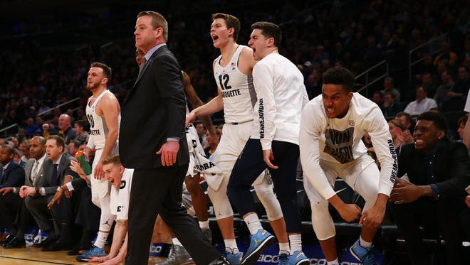 Marquette head coach Steve Wojciechowski and his team will be hoping for some fan support in their first-round game against South Carolina in Greenville, S.C.