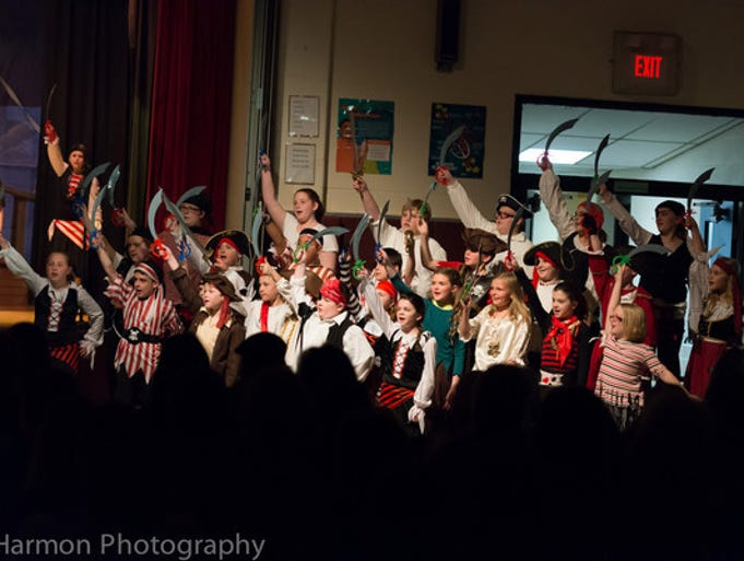 "The Pirate Chorus of Oakdale Choir's production of ""Pirates!"""