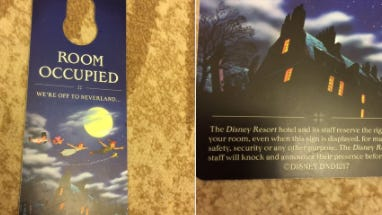 "A company spokeswoman said Disney has replaced ""Do Not Disturb"" signs with ""Room Occupied"" signs at hotels in Orlando."