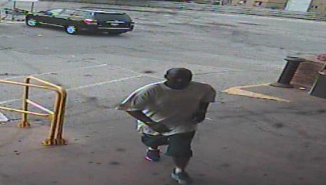 This man is sought by Milwaukee police in a strong-arm robbery at Sentry Foods, 7101 W. Lisbon Ave.