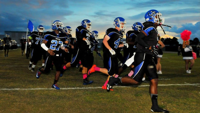 Heritage High hosted crosstown rival Bayside in Palm Bay on Friday night.