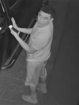 A security camera image shows a man suspected in a vehicle burglary Saturday on Wesleyan Avenue in Horizon City.