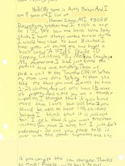 Ten-year-old Avery Baker wrote Clay Township Supervisor
