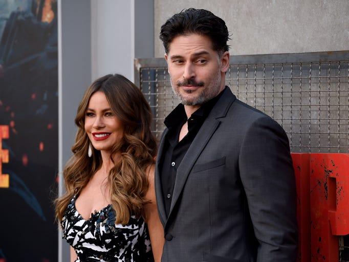 Sofia Vergara and Joe Manganiello arrive at the world