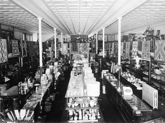 The interior of the Hunter Mercantile building is seen in this 1920 photo. The space is now home to the Dusty Attic.