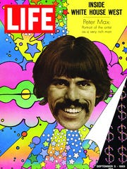 Peter Max on the cover of Life magazine.