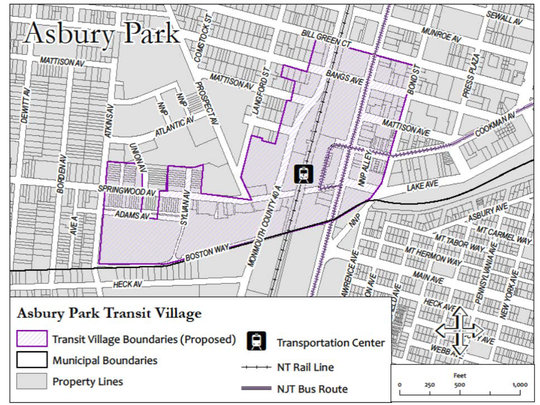 New transit village designation for Asbury Park.