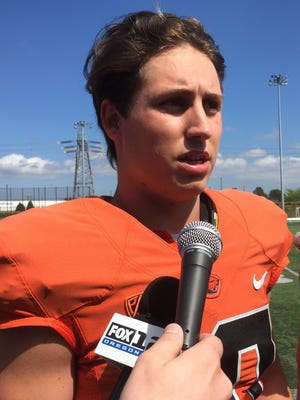 Oregon State quarterback Darell Garretson has started 11 games in his college career.