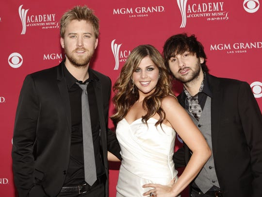 Charles Kelley, left, Hillary Scott and Dave Haywood