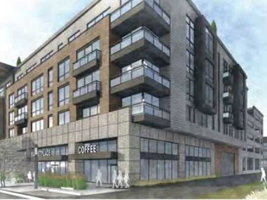 An artist's rendering shows The Hub on Campus, located in the former C.B. & Potts site on Elizabeth Street.