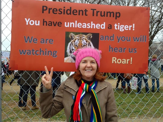 Author and former Ford Motor executive Anne Doyle at  the Women's March in Washington, D.C. on Saturday, January 21, 2017.