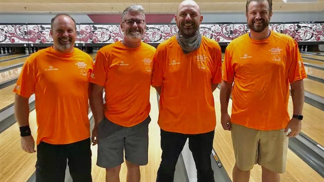 The Mt. Hawley Bowl team of Andy Stone, Adam Johnson, Chad Barnes and Joe Robards won the Perfect Angle Pro Shop/Bill Mastronardi Masters league.