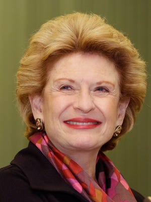 Sen. Debbie Stabenow, D-Mich., is seen during a rally in Livonia on Oct. 2, 2014.