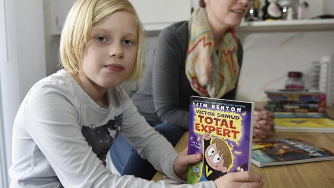 Bridget Smith, 7, reviews books and interviews authors on her blog Bridget and the Books. Her mother, Melissa, said the blog has attracted a total of 4,162 visitors and gets roughly 20 visitors a day, mostly from the United States.