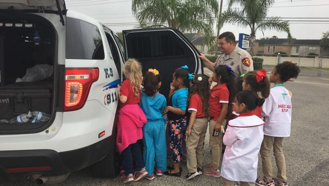School of Science and Technology participated in career day March 1. The Nueces County Sherriff's Office made a stop at the campus for career day. Kindergarten students learned about what deputies do and got to hear the car sirens up close.