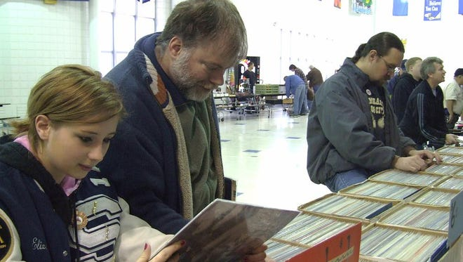 Vinyl record fans of all ages attend The Park's record show.