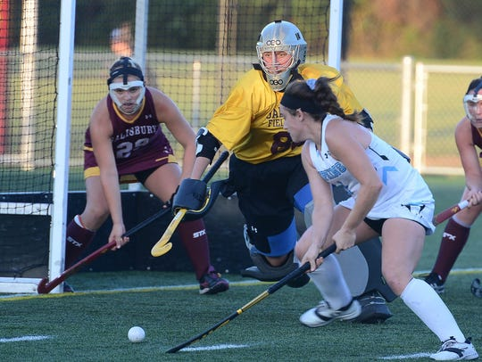 Salisbury University's Tressie Windsor in goal against