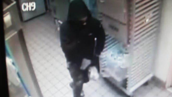 A screenshot of a suspect in an armed robbery in Hanover.
