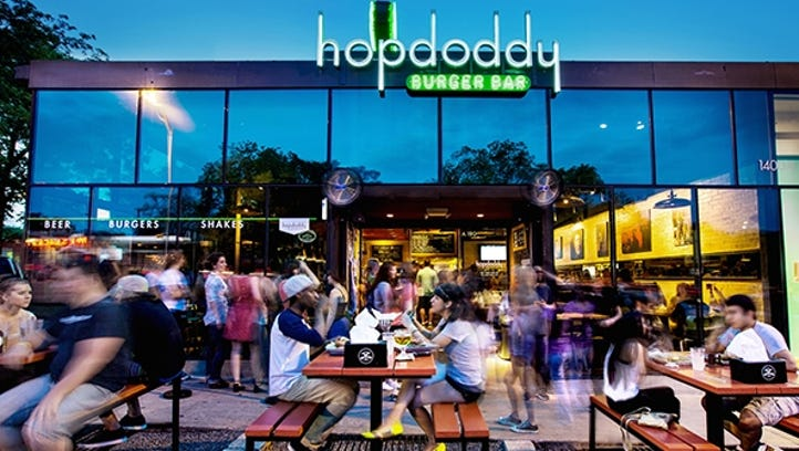 Hopdoddy Burger Bar at 1400 S. Congress Ave. in Austin, Texas, is one of 16 locations nationwide.