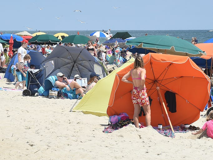 Beautiful weather brought out visitors to the shops, beach and boardwalk in Bethany Beach.