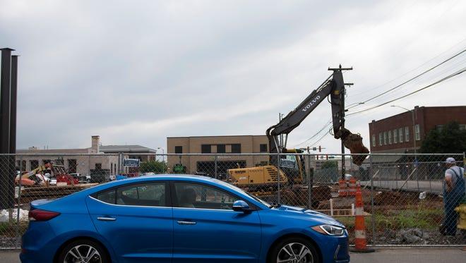 Civic Plaza construction, August 14, 2016.