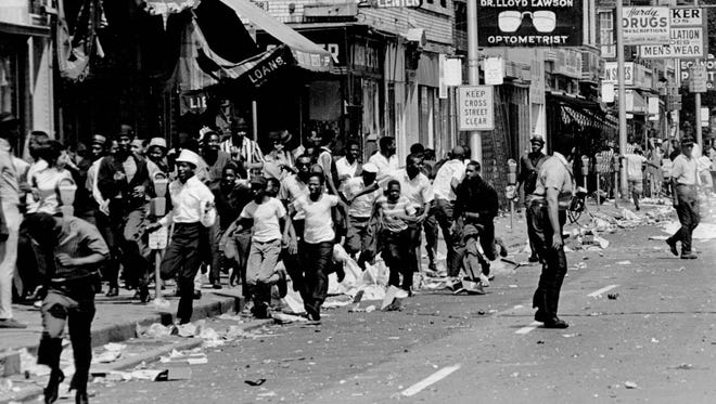 The streets of Detroit during the 1967 riot.
