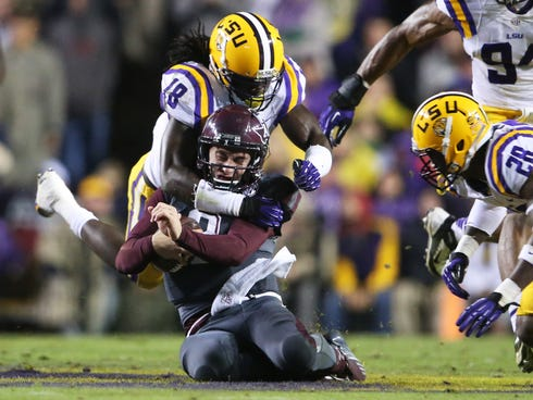 Texas A&M quarterback Johnny Manziel's hope for a second Heisman trophy may have been crushed Saturday in a loss at LSU.