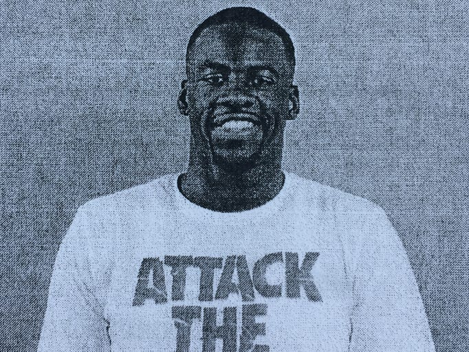 Booking photo of Draymond Green after his arrest in