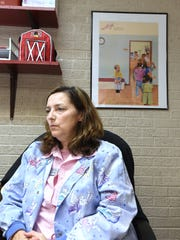 Laura Hobbs, Yellville-Summit's K-12 nurse, talks Monday about precautions the school is taking to curtail the flu.