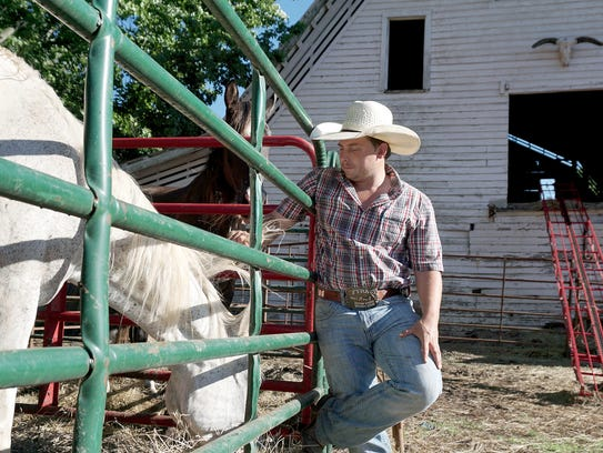 Justin White, 26, purchases horses for slaughter, but