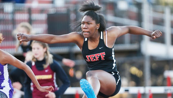 Lafayette Jeff's Kiara Lewis on her way to first place