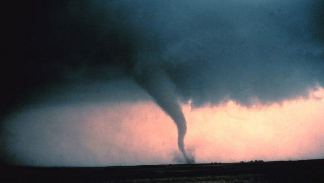 A tornado roars across Oklahoma.