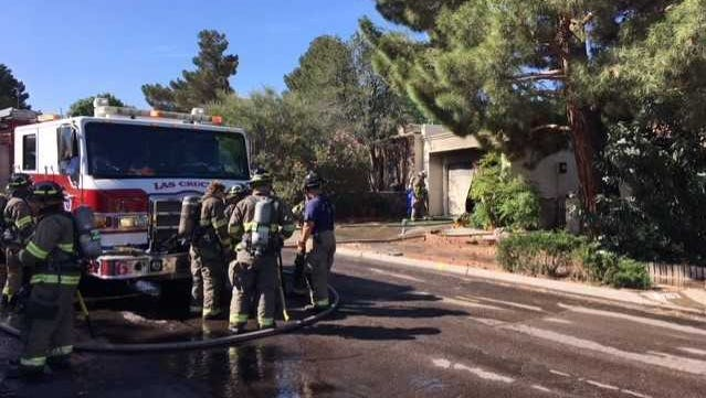 The Las Cruces Fire Department responded to a residential fire on the 3200 block of Solarridge Street just after 9 a.m. Tuesday, June 5, 2018.