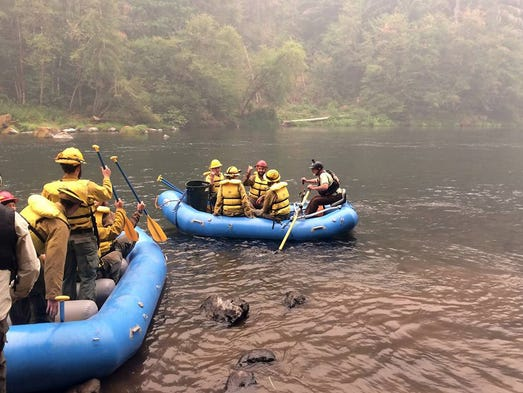 Raft guide Dale Moore, with North Umpqua Outfitters,
