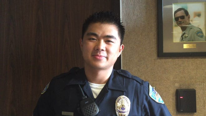 Palm Springs police officer Daniel Buduan, 22, was raised in Palm Springs and was sworn in on July 21, 2015.