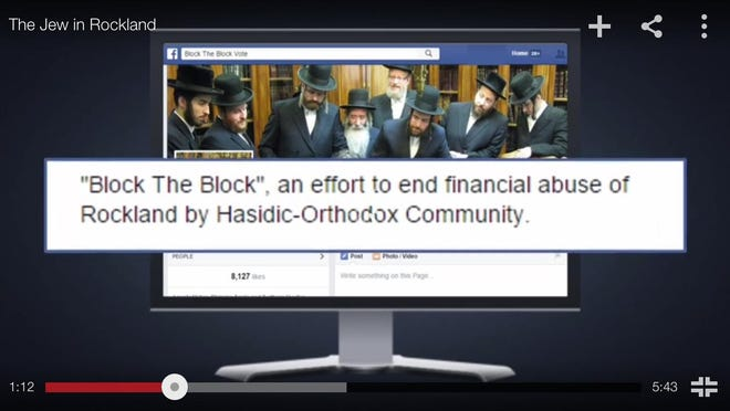 """Screen shot from the video """"The Jew in Rockland,"""" produced by Colossal PR on behalf of the Orthodox Jewish Public Affairs Council."""