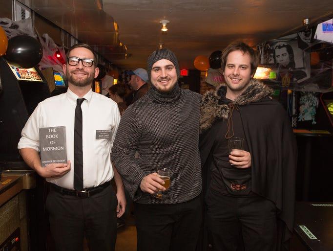 Andrew Rasmussen, 26, Trevor Courtier, 24, and Jonathan